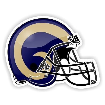 Helmet St Louis Rams Die Cut Decal Sticker 4 Sizes