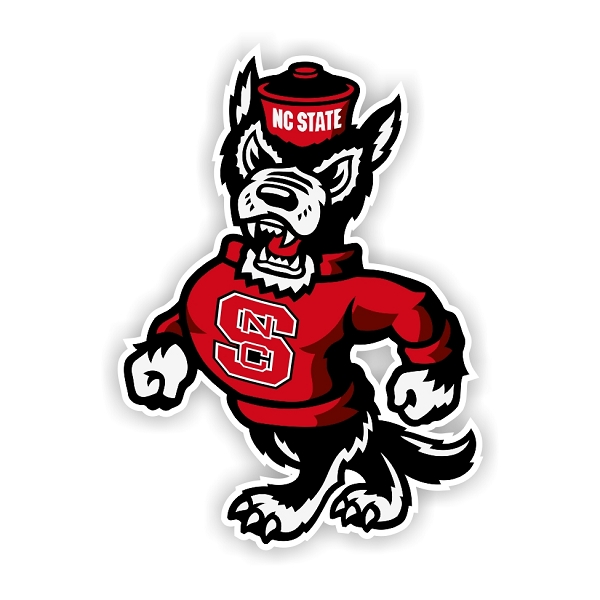 North Carolina State Wolfpack New Mascot Die Cut Decal